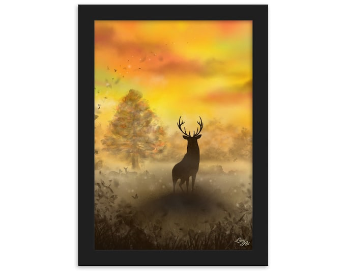 Into The Mist (Digital Painting By Mouth) - Print, Matte, Framed (21x30cm)