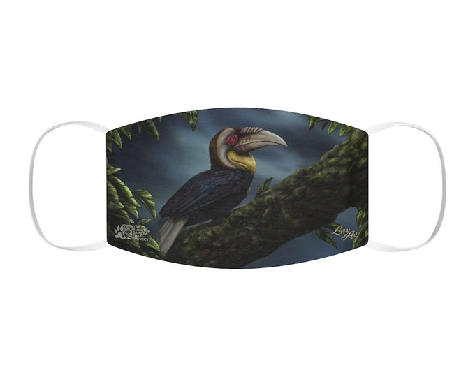 Wreathed Hornbill - Snug-Fit Polyester Face Mask