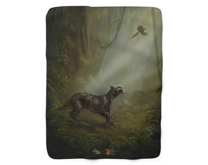 SumatraCTP: Sherpa Fleece Blanket - Clouded Mystery (Clouded Leopard)