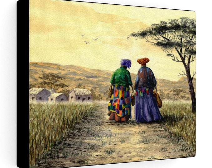 I Dream Of Africa - Watercolour By Mouth - Print On Stretched Canvas (10x8 inches)