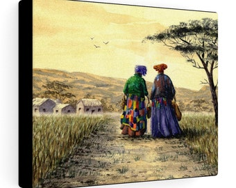 I Dream Of Africa (Watercolour By Mouth) - Print On Stretched Canvas, 10x8 inches