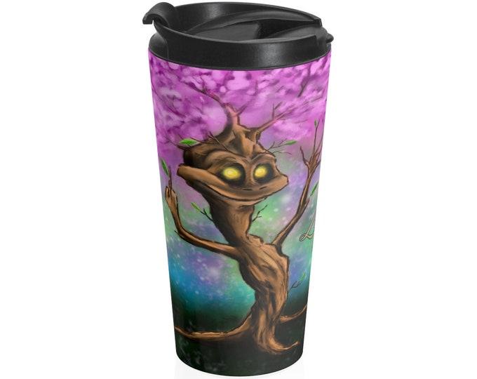 Terrence Tree - Travel Mug (15oz, Stainless Steel)