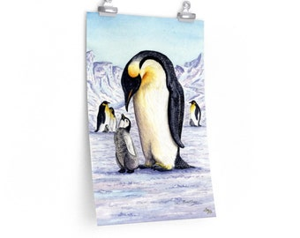 Like Father, Like Son - Watercolour By Mouth - Poster Print On Fine Art Paper (12x18 inches)