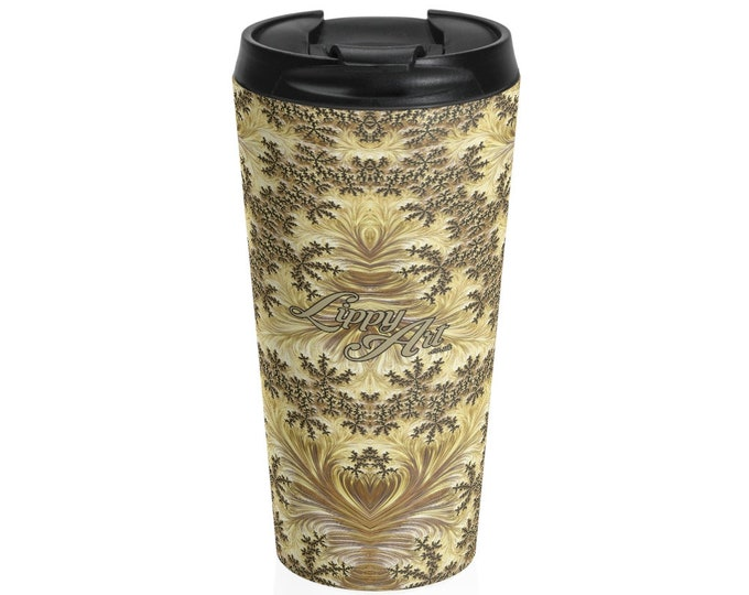 Gold - Travel Mug (15oz, Stainless Steel)