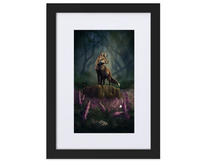 Barnaby's Adventure (Fox) - Digital Painting By Mouth - Print, Matte, Framed & Mounted (21x30cm)