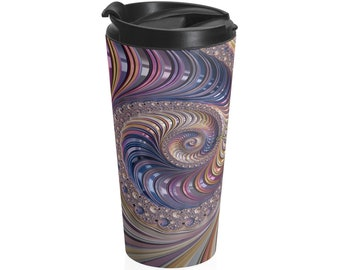 Fractal #2 - Travel Mug (15oz, Stainless Steel)