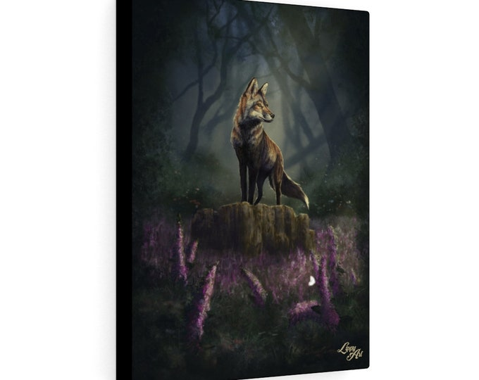 Barnaby's Adventure - Digital Painting By Mouth - Print On Stretched Canvas (12x16 inches)