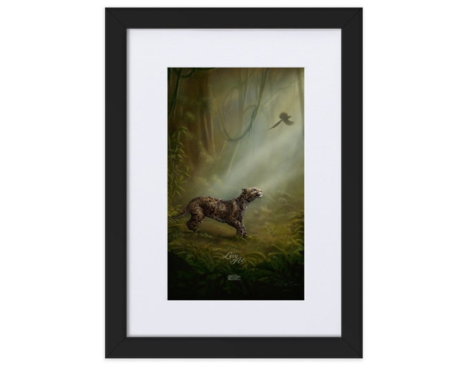 SumatraCTP: Clouded Mystery (Digital Painting By Mouth) - Print, Matte, Framed & Mounted (21x30cm) ***FREE SHIPPING***