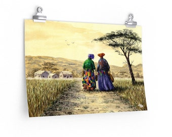 I Dream Of Africa (Watercolour By Mouth) - Poster Print On Fine Art Paper (18x12 inches - Unmounted, Unframed)