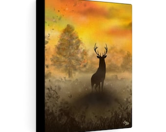 Into The Mist (Digital Painting By Mouth) - Print On Stretched Canvas, 8x10 inches