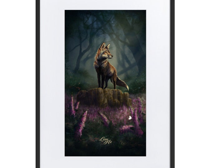 Barnaby's Adventure (Fox) - Digital Painting By Mouth - Print, Matte, Framed & Mounted (61x91cm)