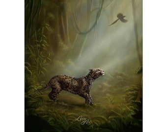 """Clouded Mystery (SCTP) - Digital Painting By Mouth - Mini Print, Lustre (5x7"""")"""