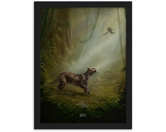 Clouded Mystery - Digital Painting By Mouth - Print, Matte, Framed (30x40cm)