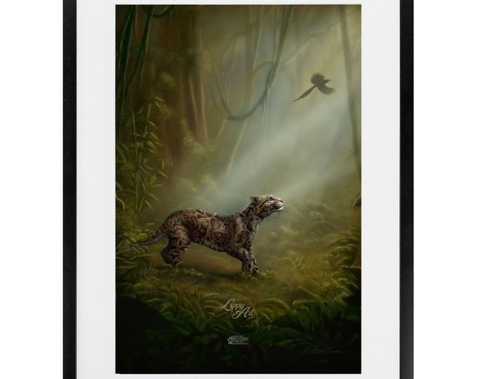 Clouded Mystery - Digital Painting By Mouth - Print, Satin, Framed & Mounted (16 X 24 Inch)