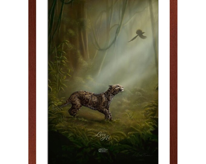Clouded Mystery - Digital Painting By Mouth (SCTP) - Print, Lustre, Framed & Mounted (20 X 30 Inch)