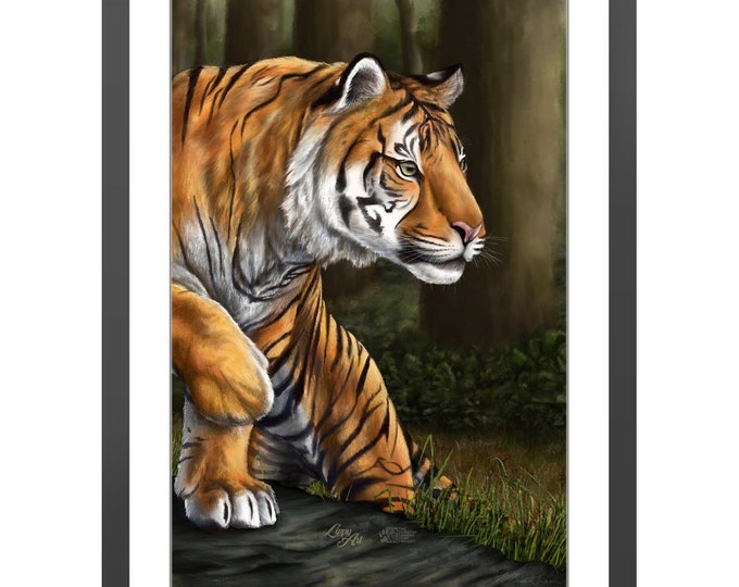 Maneater Of Pelakat - Digital Painting By Mouth (SCTP) - Print, Lustre, Framed & Mounted (20 X 30 Inch)