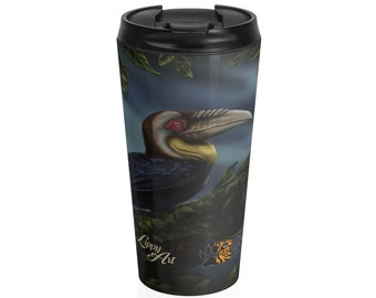 Wreathed Hornbill (SCTP) - Travel Mug (15oz, Stainless Steel)