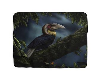 Wreathed Hornbill (SCTP) - Sherpa Fleece Blanket