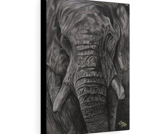 Charley - Charcoal By Mouth - Print On Stretched Canvas (12x16 inches)