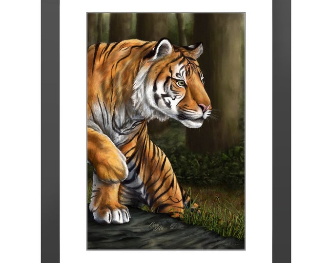 Maneater Of Pelakat - Digital Painting By Mouth (SCTP) - Print, Lustre, Framed & Mounted (18 X 12 Inch)
