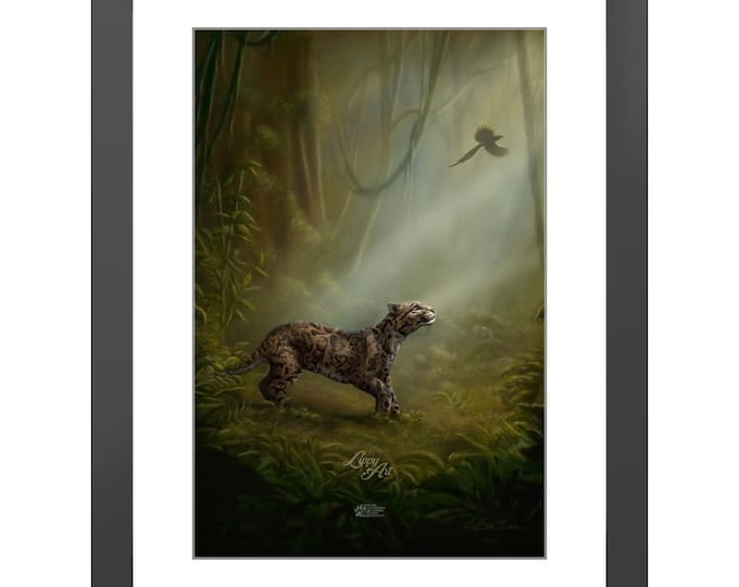 Clouded Mystery - Digital Painting By Mouth - Print, Lustre, Framed & Mounted (18 X 12 Inch)