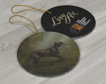 Clouded Mystery (SCTP) - Porcelain Ornament, Circle