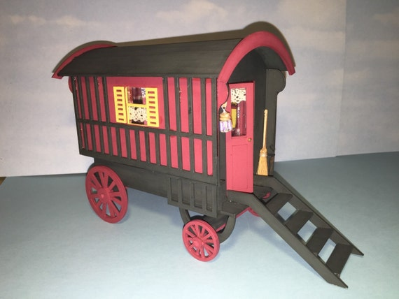 "Special Offer. Dolls house OLD Retro Caravan 1/"" Scale 1//12th Kit"