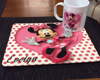 Personalised Mug and Placemat set.
