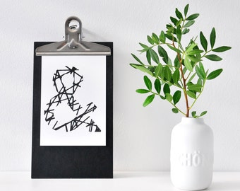 """Sign  """"&"""", black and white postcard"""