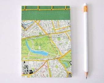 London traveler adventure small notebook handmade diary wanderlust journal travel wedding memories notepad honeymoon gift for nomad couple