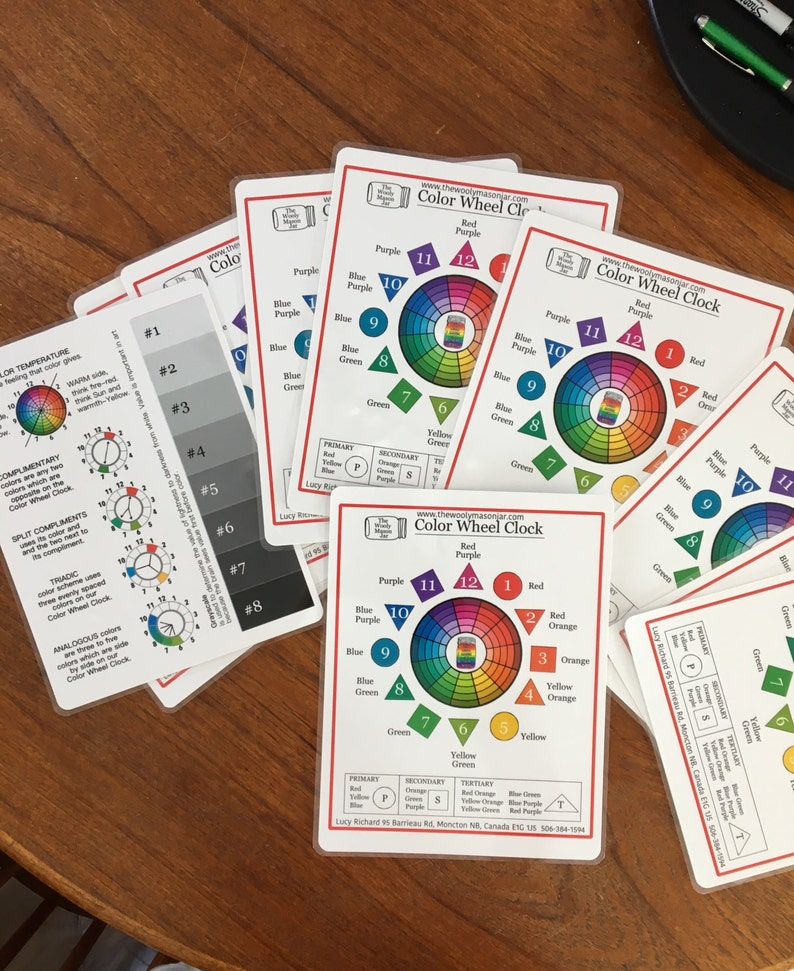the Wooly Mason Jar Color Wheel Clock print image 0