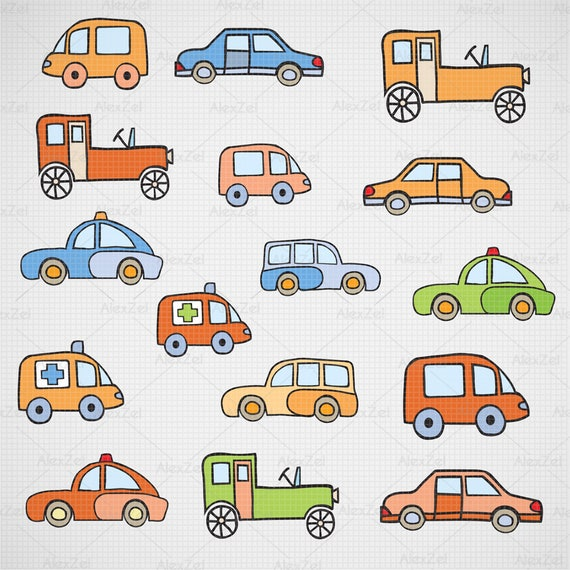 Cute Cars Clipart Toy Car Svg Kids Toys Toys Clipart Etsy
