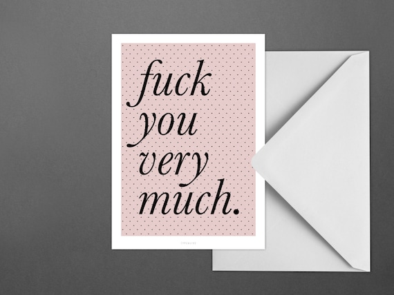 Postkarte fyvm fuck you very much typography letter card etsy image 0 spiritdancerdesigns Gallery