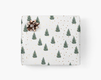 Wrapping paper / TANNE / gift sheets with trees, beautiful wrapping paper for men, for best friend, birthday, Christmas