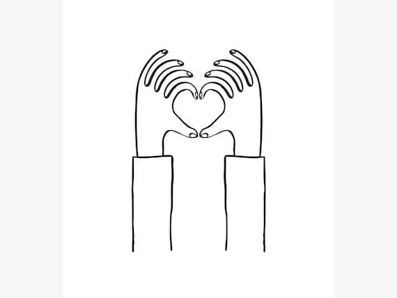 Jutebeutel mit Namen Sabine Motiv Painted Heart