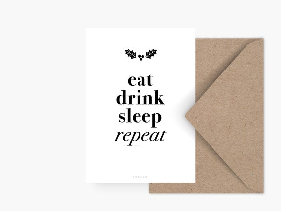Company Christmas Cards.Christmas Card Repeat Funny Greeting Card Christmas Party Invitation Company Christmas Card Girlfriend Funny Message Obligarory Card