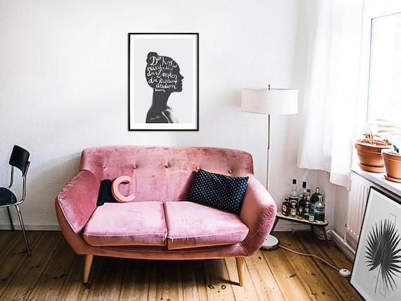 Fine Art-Print Think Francis Picabia Premium Poster Denken  Head Minimal Poster Art Kunstdruck Poster Typography Art Wall-Art