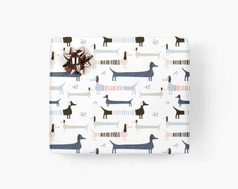 Wrapping paper / VIENNESE WRAP / Gift sheets with dachshund, beautiful wrapping paper for men, for best friend, birthday, Christmas