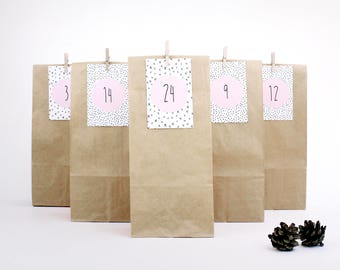 Advent Calendar / Dots (brown)
