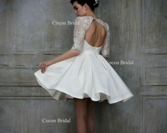 Short White Wedding Dress