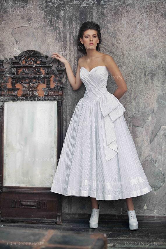 Polka Dot Wedding Gown 50s Wedding Dress Full Skirt | Etsy