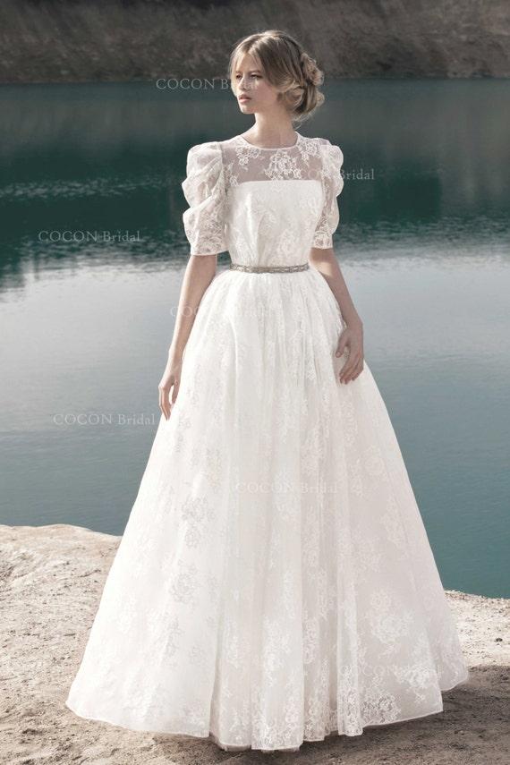 Designer Brautkleid im Vintage-Stil-romantische Kleid aus