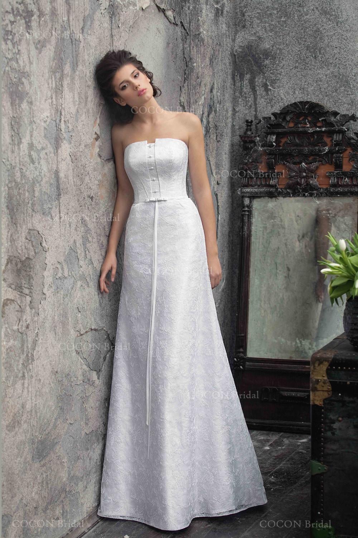 A classic wedding dress Strapless A-line Stunning Wedding | Etsy