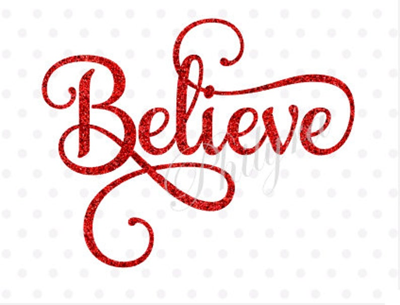 Believe Believe Svg Winter Svg Christmas Svg She Believed image 0