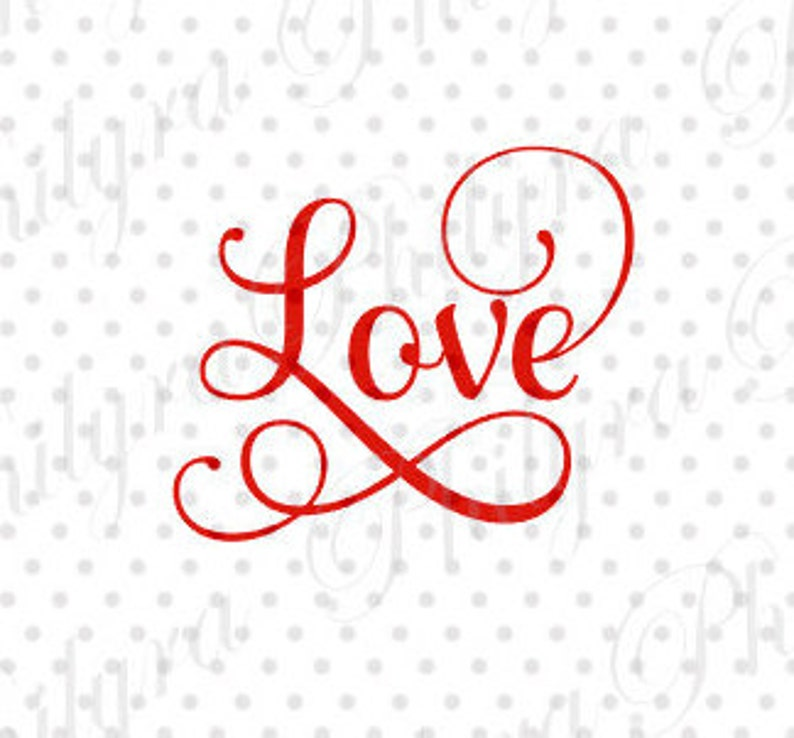 Download Love SVG Svg Digital Cutting File PDFDXF   Etsy