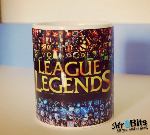 league of legends articles une tasse de caf en c ramique etsy. Black Bedroom Furniture Sets. Home Design Ideas