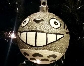 Ready to Ship! My Neighbor Totoro Inspired Miyazaki Studio Ghibli Anime Shatterproof Hand-Painted Christmas Ornament!