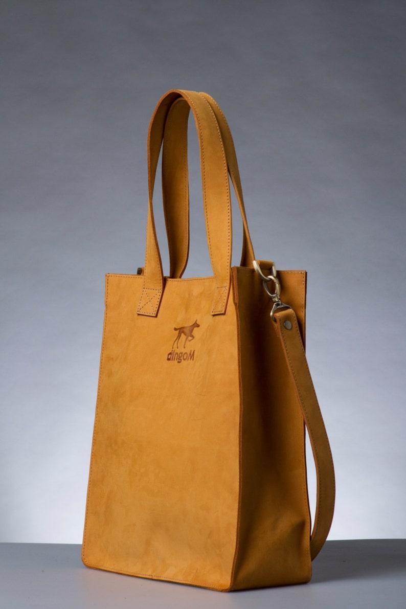 ginger leather handbag full grain crazyhorse leather bag Genuine leather minimalist brown cross body tote bag