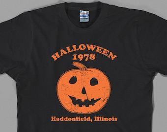 Halloween 1978 T Shirt, vintage retro michael myers jamie lee curtis horror movie haddonfield illinios film Graphic tee, All Sizes & Colors