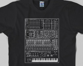 Synthesizer T Shirt - analog, vintage, modular, 80s, 70s, synth, keyboard, piano, Graphic tee, All Sizes & Colors